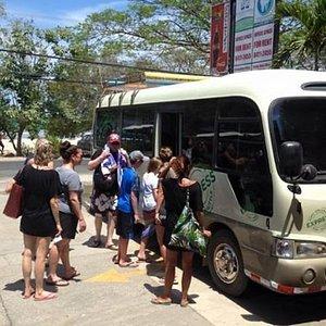 Departing from Tamarindo