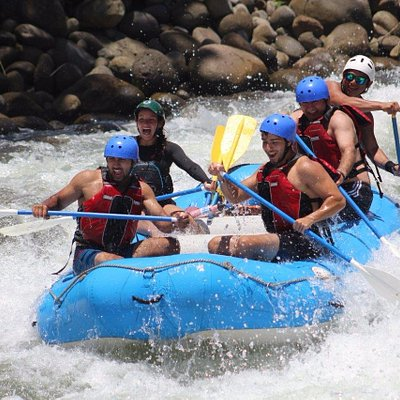 Fun times white water rafting with Dinghy Expeditions.