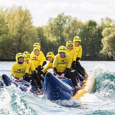 Loads of fun on a banana boat ride