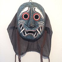 One of masks exhibited at the Pump House