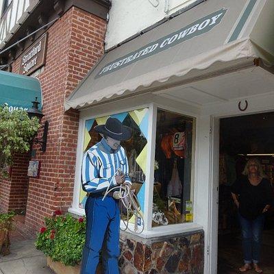 Cowboy Outside Shop