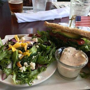 Half sandwich & salad option