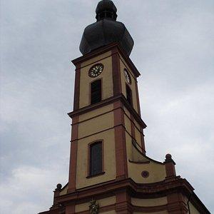 St. Bartholomeus kyrktorn i Bad Brückenau