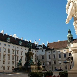 View of the Hofburg's Inner courtyard and the president's office