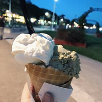 Glaces yaourt-pistache