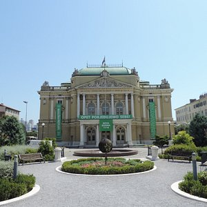 Little, but beautiful park before the Croatian National Theater. It take just
