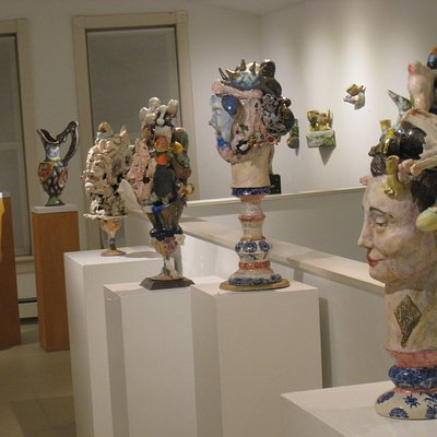 Matt Nolen's ceramic sculpture exhibit at DVAA.