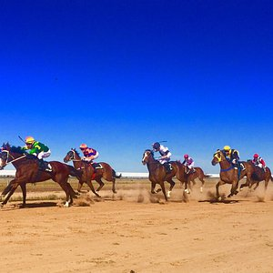 Awesome, huge, horse racing event in the NSW Outback.  Attended by 4000 funny people who travel