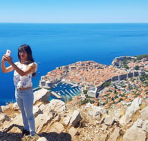 Panoramic view of Dubrovnik with one of our beautiful customer.