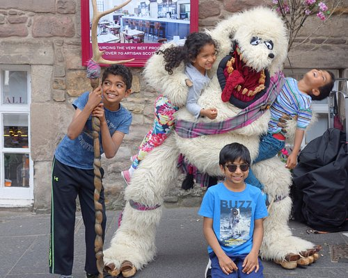 Meet Haggis the Scottish Yeti and living mascot of the Bark Park. Text SMS password: Happy Wows!