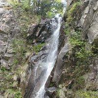 公園の奥にある滝