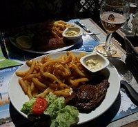 Steak + chips - 13Eur
