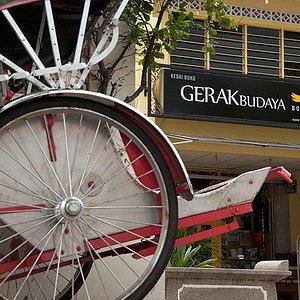 Outside of Gerakbudaya Bookshop Penang
