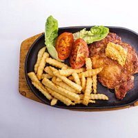 highlight : Signature sizzling butter herb chicken chop