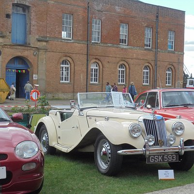 Part of the classic car exhibition