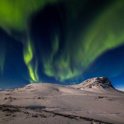 Northern Lights in Arctic wilderness