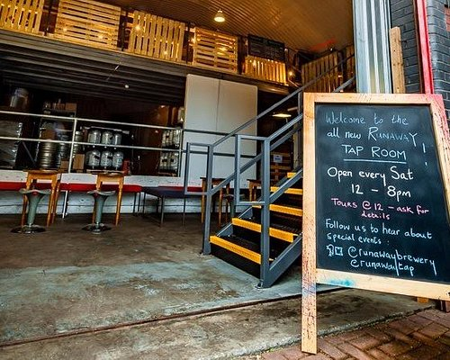 Runaway Tap Room overlooks the microbrewery where our beer is made