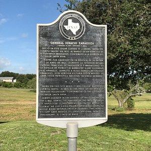 Zaragoza birthplace near Goliad, Texas