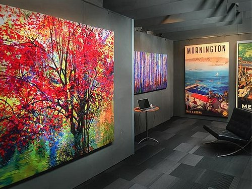 The Printism Gallery space allows visitors to see the quality of our canvas prints up close.