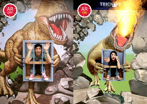 Now you can AR ON all your photos and videos in Trick Eye Museum!