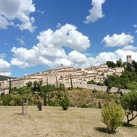 panoramica di Nocera Umbra vista dal convento dei padri carmelitani