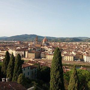 Vista di Firenze dalla terrazza panoramica di Villa Bardini