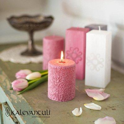 Vanha roosa Patina-kynttilä