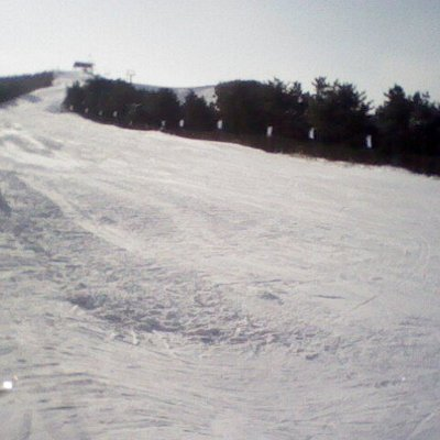 Looking form the top of the beginner's section towards the advanced slope.