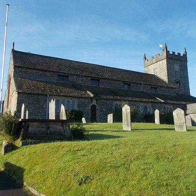 Church overlooking the beautiful town of Hawshead