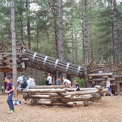 One of the many amazing activity areas along the Play Trail