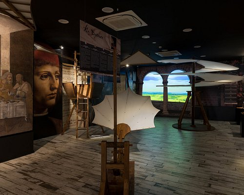 3 of the 50 Da Vinci's machines in the Museum.