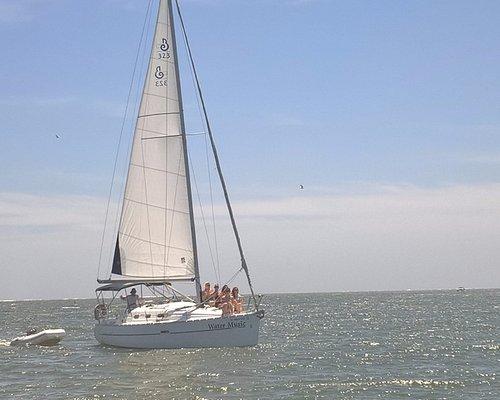 June bachelorette sail from Folly Beach to Kiawah Island