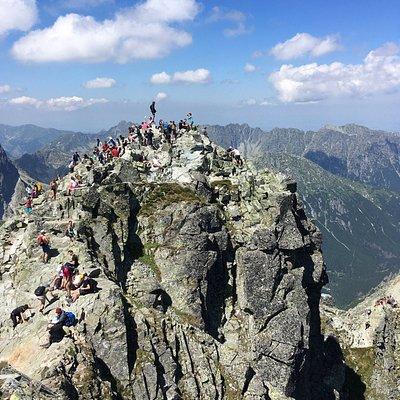 Poland's highest mountain peak... mount Rysy