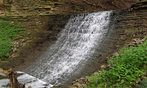 Small falls above Tiffany falls