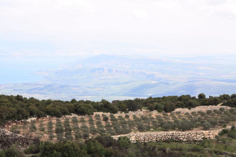 A view from Mt Meron (to the Kineret-sea of Galilee)