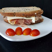 Parma ham & cheese, and other homemade sandwiches.