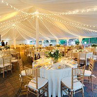 Our venue features an enormous tent with lavish amenities and equipment, provided free for event