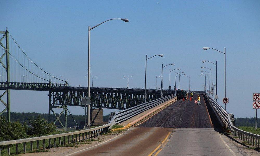 Entering the Ogdensburg-Prescott International Bridge