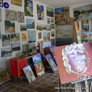 Cafe Olive Art Gallery paintings