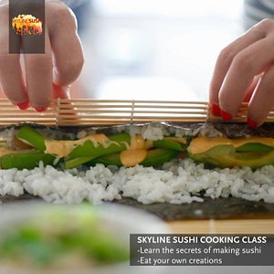 Rolling the sushi roll
