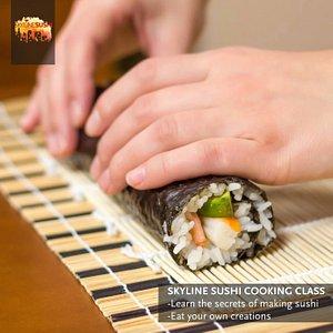 A sushi roll