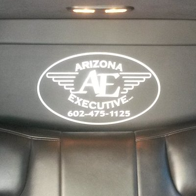 Inside Picture of Limousine Company Logo