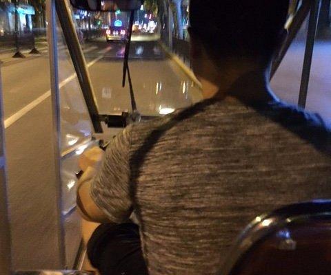 Ricksha driver in Shanghai