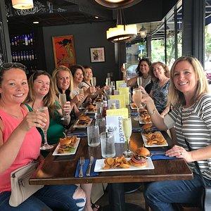 Happy foodie's at Blu Wolf Bistro...Cheers!