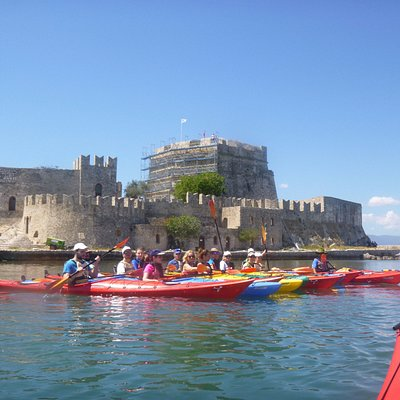 Tribal kayak Argolida-A lot of fun at Mpoyrtzy Nafplio