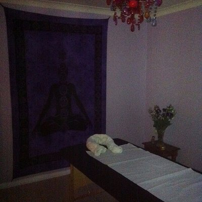 The therapy room at The Healing Room, Dunfermline