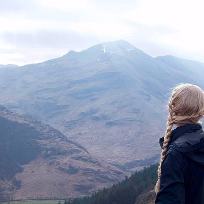 View from the Fort into Glen Nevis. We started at the bottom!