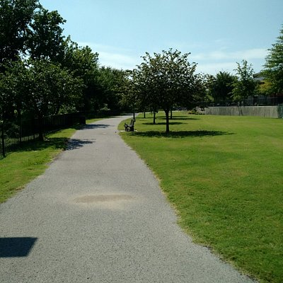 Walkway next to river