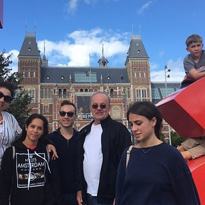 Meeting my guests at the Rijks Museum in Amsterdam