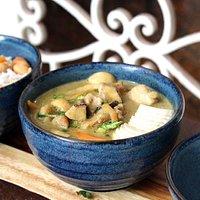 curry de frango orgânico